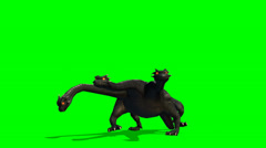 Hydra mystical water snake walks - green screen Stock Footage