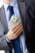 Stock Photo of Businessman with american dollars
