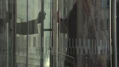 Revolving door Stock Footage