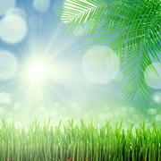 natural green background with selective focus - stock illustration