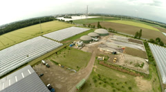 Aerial of a Biogas Plant Stock Footage