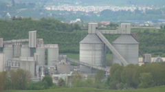 Cement factory, Factory of building materials, Polluted area, Industrial zone Stock Footage