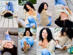 Brunet woman Stock Photos