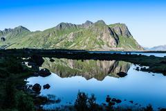 Beautiful landscape of north norway, scandinavia Stock Photos