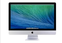 Stock Photo of new imac 27 with os x mavericks