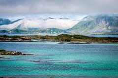 beautiful landscape of north norway, scandinavia - stock photo