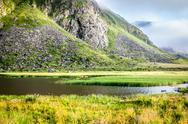 Stock Photo of beautiful landscape of norway, scandinavia