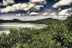 Paradise of Whitsunday Islands National Park - stock photo