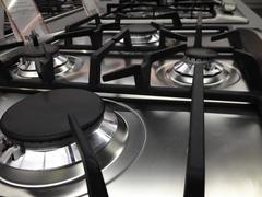Modern Stove detail in a Kitchen - stock photo