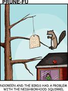 Bad Squirrel Stock Illustration