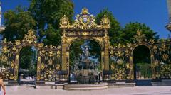 Place Stanislas - Nancy France Stock Footage