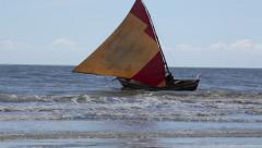Brazil Fishermen near shore 2 Stock Footage