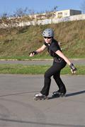 Inline Skating - Leisure Activity - stock photo