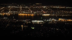 Vancouver night view Stock Footage