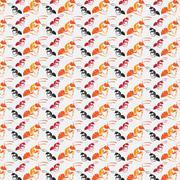 seamless wallpaper ant. - stock illustration