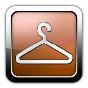 Icon, button, pictogram coat hanger Stock Illustration