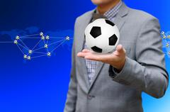 Stock Illustration of football network, sport network concept