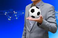 Football network, sport network concept Stock Illustration