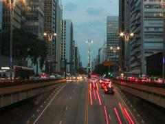 Rush hour after work on Avenida Paulista, Sao Paulo - Brazil  13 1 DV Stock Footage