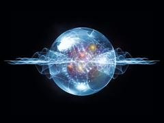 Virtual Wave Particle - stock illustration