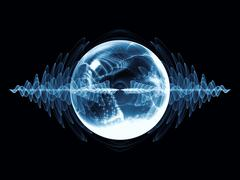 Virtual Wave Particle Stock Illustration