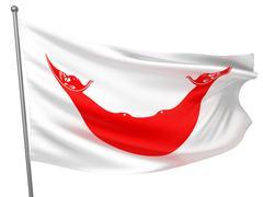Easter Island (Rapa Nui) National Flag - stock photo