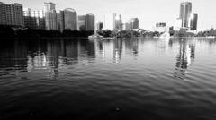 View of Orlando at Lake Eola Park Stock Footage