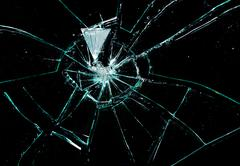 broken glass - stock photo