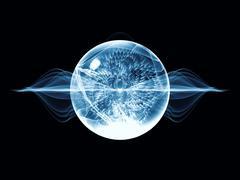 Conceptual Wave Particle Stock Illustration