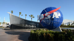 Entrance at Kennedy Space Center Stock Footage