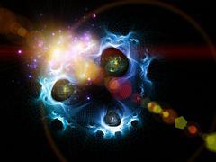 In the Beginning was Quantum Stock Illustration