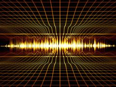 Music Analyzer Stock Illustration