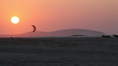 Scenic Sunset and beach scene Stock Footage