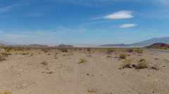 Wide View Of Empty Barren Desert In Death Valley, CA Stock Footage