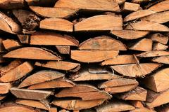 Stock Photo of stack of firewood