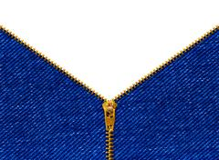 Zipper on clothing Stock Photos