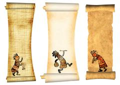 Collection of banners with african traditional patterns - stock illustration
