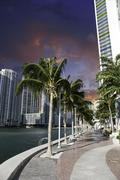 Miami Beach Buildings and Colors, U.S.A. Stock Photos