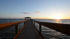 Sunrise Over Indian River Stock Footage