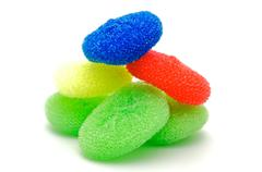 Сolor wisps for ware washing  Stock Photos