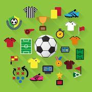Stock Illustration of soccer icons set.