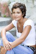 Beautiful brunet woman Stock Photos
