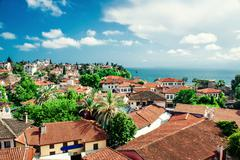 Alanya cityscape. turkish resort Stock Photos