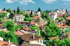 alanya cityscape. turkish resort - stock photo