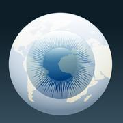 eyeball globe - stock illustration