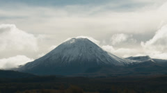 Mount Ngauruhoe Time lapse Stock Footage