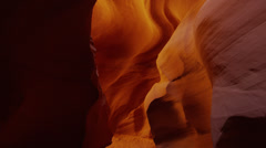 Panning shot of tourists sightseeing in Canyon X / Canyon X, Arizona, United Stock Footage