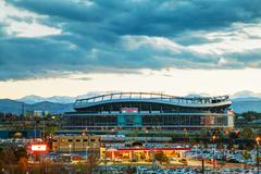 sports authority field at mile high in denver - stock photo