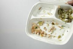 Junk fast food leftovers Stock Footage