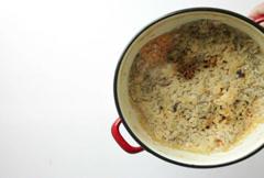 dirty burned enamel saucepan pot - stock footage